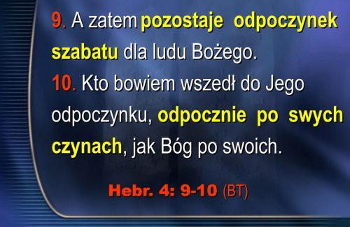ODPOCZNIENIE SABATU   Hebr. 4:1-13   Jack Sequeira